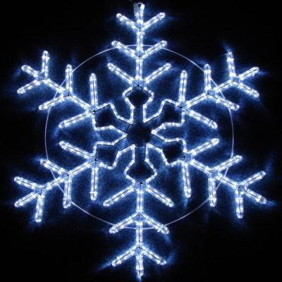 Снежинки и звезды из дюралайта